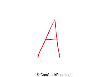 Handwritten Letter Grade A written in red ink