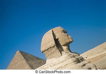 a, grande, piramides, em, giza