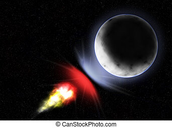 meteorite attact a planet