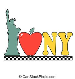 Statue of Liberty - A graphic with the Statue of Liberty an...