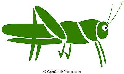 a grasshopper pictogram