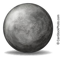 A gray ball