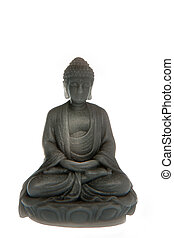 a gray buda made of soap