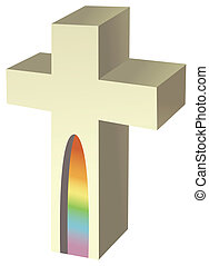 a gray cross isolate in a white background