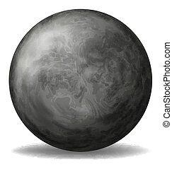 A gray round ball - Illustration of a gray round ball on a ...
