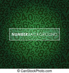 number background - a green abstract number background