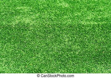 A green Astro turf background