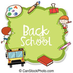 A Green Back to School Template