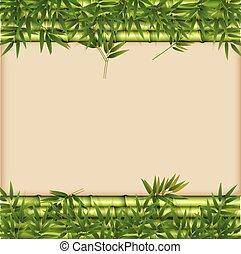 A green bamboo template