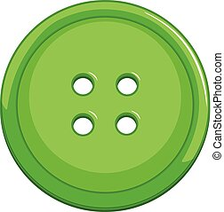 A green button on white background