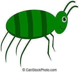 a green cockroach