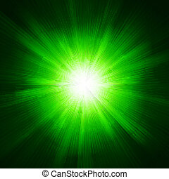 Green color design with a burst. EPS 10