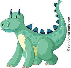 A green dragon character