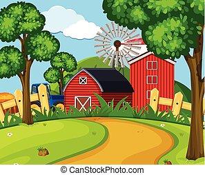 A green farmland landscape