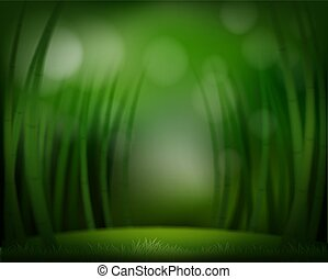 A green forest template