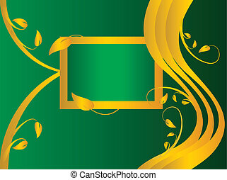 A green formal floral background