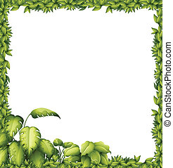 A green frame - Illustration of a green frame on a white...