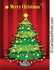 A green giant christmas tree