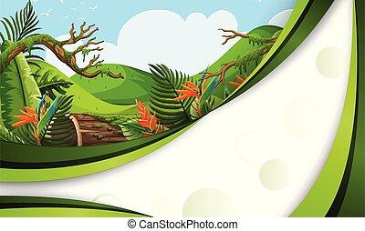 A green jungle template