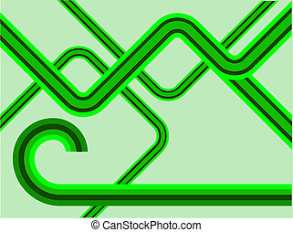 A green lines retro background