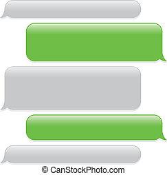 text messaging - a green mobile phone text messaging screen