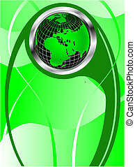 a green vector business background