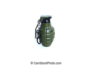 A grenade on isolated white background