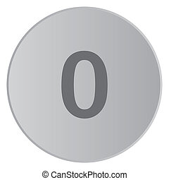 Grey Icon Isolated on a Button with Grey Background - 0