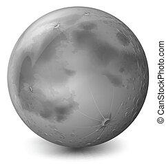 A grey planet