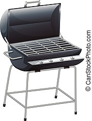 A grilling device - Illustration of a grilling device on a...