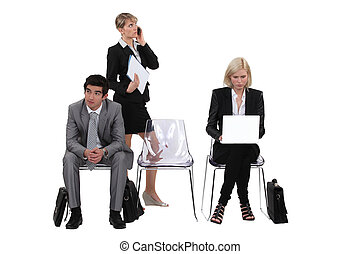 A group of business professionals