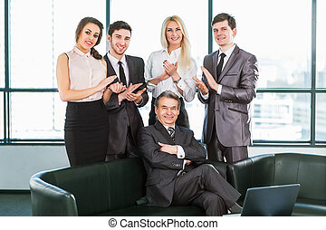 A group of businessmen
