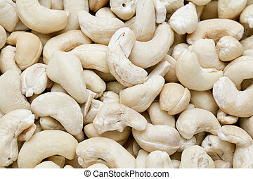 a group of cashew nuts
