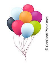 ballon - a group of color ballons on a white background