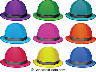 A group of colorful hats