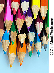A group of coloured pencils