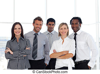 A group of Confident business people