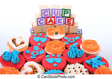 a group of cup cakes