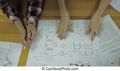 a group of electricians, each offends blueprint project and the amount of work for your team, contract