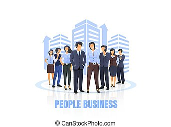A group of people are getting to business, concept people.