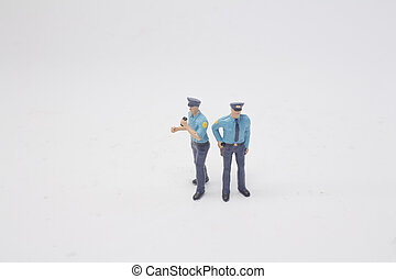 a group of police figure on board