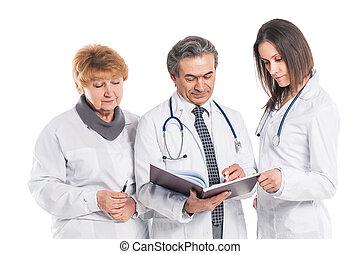 a, groupe, de, professionnel, médecins