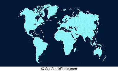 A growing network across the world - A world map and...