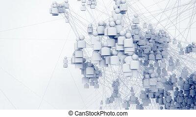 A Growing Social Network. - A growing social network: Render...
