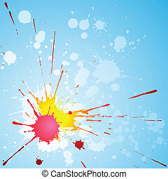 Grunge Background - A Grunge Background with Paint Splat