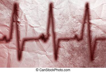 A Grunge Heart Monitor