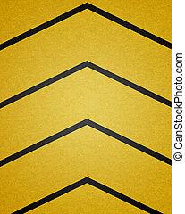 A grungy and worn hazard stripes background