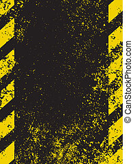 A grungy and worn hazard stripes texture. EPS 8