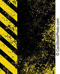 A grungy and worn hazard stripes texture. EPS 8