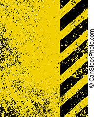 a, grungy, och, slitet, hasard, stripes, texture., eps, 8